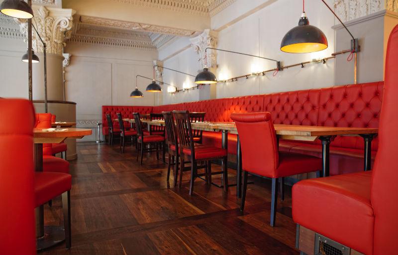 Seats at Burger and Lobster